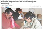 Assistance program offers free food to immigrant community