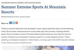 Summer Extreme Sports At Mountain Resorts