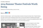 2014 Summer Theater Festivals Worth Seeing