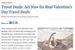 Travel Deals: Act Now for Real Valentine's Day Travel Deals