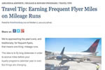 Travel Tip: Earning Frequent Flyer Miles on Mileage Runs