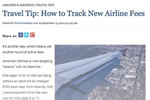 Travel Tip: How to Track New Airline Fees