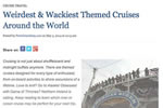 Weirdest & Wackiest Themed Cruises Around the World